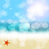 De vectorachtergrond van de de zomervakantie. Royalty-vrije Stock Afbeelding