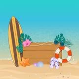 De vectorachtergrond van de de zomervakantie Stock Afbeeldingen