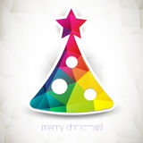 De vectorachtergrond van de driehoekskerstboom Stock Foto