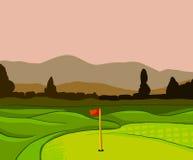 De vectorachtergrond van de golfcursus royalty-vrije illustratie