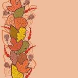De vectorachtergrond van de herfst met bladeren en bessen Royalty-vrije Stock Foto