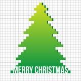 De vectorachtergrond van de kerstboom applique. Stock Afbeeldingen