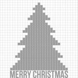 De vectorachtergrond van de kerstboom applique. Royalty-vrije Stock Afbeelding