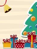 De vectorachtergrond van de kerstkaart Royalty-vrije Stock Afbeeldingen