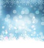 De vectorachtergrond van de Kerstmisvakantie met sneeuwvlokken Stock Fotografie
