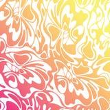 De vectorachtergrond van de kleuren naadloze golf Oranje abstracte zonnige tex Vector Illustratie