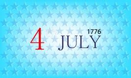 De vectorachtergrond van de onafhankelijkheidsdag Royalty-vrije Stock Foto