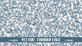 De vectorachtergrond van de pixelcamouflage Stock Foto