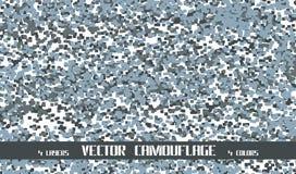 De vectorachtergrond van de pixelcamouflage Royalty-vrije Stock Afbeelding