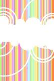 De vectorachtergrond van de regenboog Stock Afbeeldingen
