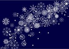 De vectorachtergrond van de sneeuwvlok Stock Afbeelding