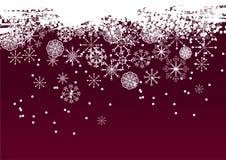 De vectorachtergrond van de sneeuwvlok Royalty-vrije Stock Foto