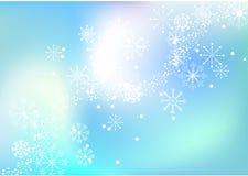 De vectorachtergrond van de sneeuwvlok Stock Foto