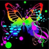 De vectorachtergrond van de vlinder Stock Fotografie