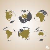 De vectorachtergrond van de wereldkaart Royalty-vrije Stock Fotografie