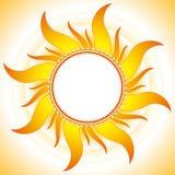 De vectorachtergrond van de zomer Stock Afbeelding