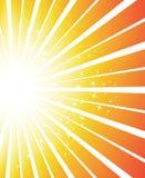 De vectorachtergrond van de zonnestraal Royalty-vrije Stock Fotografie