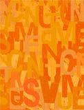 De vectorachtergrond van Grunge in warme oranje kleuren Royalty-vrije Stock Afbeelding