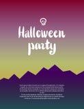 De vectorachtergrond van Halloween Stock Afbeeldingen