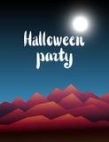De vectorachtergrond van Halloween Stock Fotografie