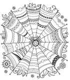 De vectorachtergrond van Halloween Abstract Web voor textielontwerp, groetkaarten en het verpakken voor de gift Malplaatje voor m stock illustratie