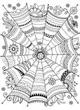 De vectorachtergrond van Halloween Abstract Web voor textielontwerp, groetkaarten en het verpakken voor de gift Malplaatje voor m vector illustratie