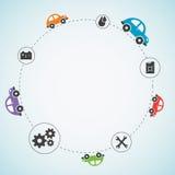De vectorachtergrond van het autothema Stock Afbeeldingen