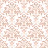 De vectorachtergrond van het damast naadloze patroon. Royalty-vrije Stock Afbeeldingen