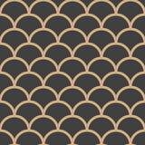 De vectorachtergrond van het damast naadloze retro patroon om het kaderlijn van de kromme dwarsschaal Het elegante ontwerp van de royalty-vrije illustratie