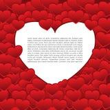 De vectorachtergrond van het de kaart rode thema van Valentine ` s Stock Fotografie