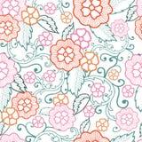 De vectorachtergrond van het pastelkleur bloemen naadloze patroon royalty-vrije illustratie