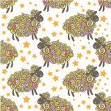 De vectorachtergrond van het schapenpatroon Royalty-vrije Stock Afbeelding