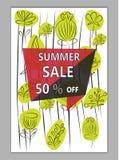 De vectorachtergrond van het de zomerpatroon met bloemenelementen in memphi Royalty-vrije Stock Foto