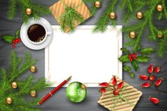 De VectorAchtergrond van Kerstmis royalty-vrije stock foto's