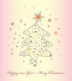 De vectorachtergrond van Kerstmis vector illustratie