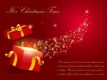 De vectorachtergrond van Kerstmis Stock Afbeeldingen