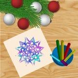 De VectorAchtergrond van Kerstmis Stock Afbeelding