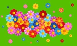 De vectorachtergrond van kleurenbloemen Stock Foto