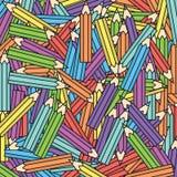 De vectorachtergrond van kleurenkleurpotloden Stock Afbeelding