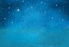 De vectorachtergrond van de nacht sterrige hemel vector illustratie