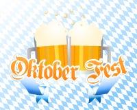 De vectorachtergrond van Oktoberfest Royalty-vrije Stock Afbeeldingen