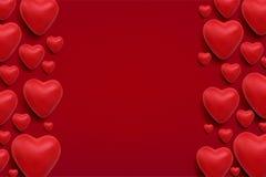 De vectorachtergrond van de valentijnskaartendag Stock Foto