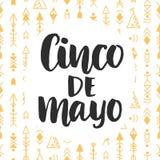 De vectoraffiche van Cinco de Mayo Stock Afbeelding