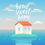 De vectoraffiche van het huis zoete huis Stock Fotografie