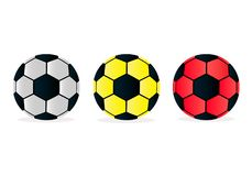De vectorballen van het illustratie vastgestelde voetbal op witte achtergrond stock illustratie