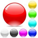 De vectorballen van Varicolored Stock Afbeeldingen