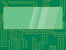 De vectorbanner van het microchipbeeldverhaal Royalty-vrije Stock Foto