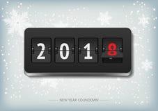 De vectorbanner van de nieuwjaaraftelprocedure Stock Foto