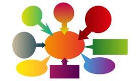 De vectorbellen van de kleuren verse informatie Royalty-vrije Stock Afbeeldingen