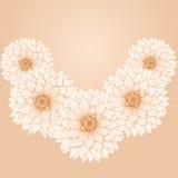 De vectorbloemen van de kroondahlia. stock illustratie